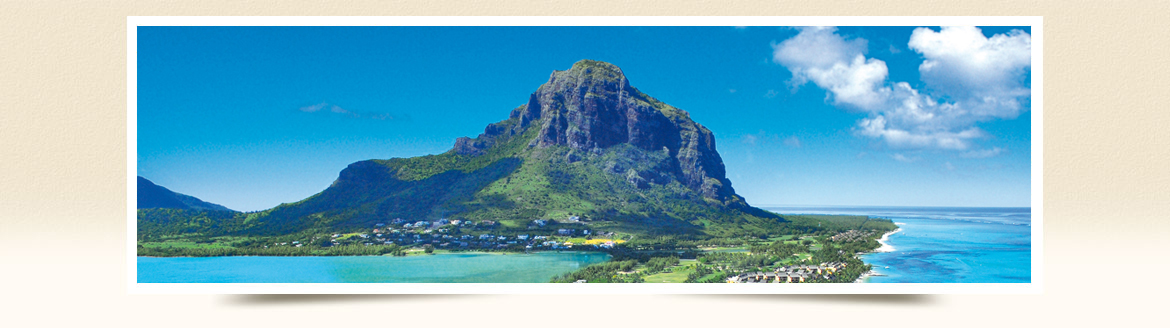 Le Morne Mauritius view from Flic-en-Flac
